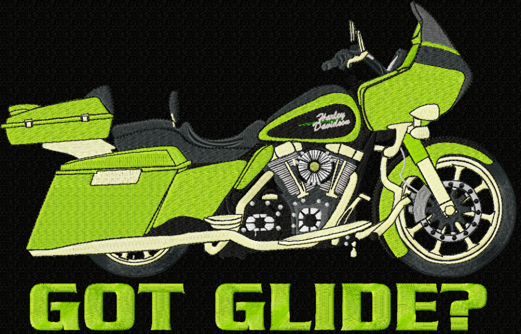 Harley-Davidson Road Glide Custom Embroidery